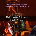 Primes Raid Leiter der Gilde Avalon